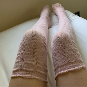 Free People Pointelle Socks Knit Over the knee